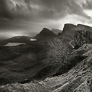 Hail storm over The Trotternish ridge looking towards Staffin, Skye, November 2008