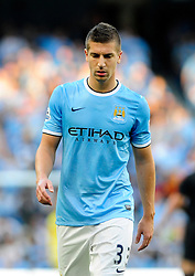 Manchester City's Matija Nastasic - Photo mandatory by-line: Dougie Allward/JMP - Tel: Mobile: 07966 386802 22/09/2013 - SPORT - FOOTBALL - City of Manchester Stadium - Manchester - Manchester City V Manchester United - Barclays Premier League
