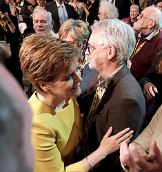 SNP Spring Conference, Sunday 28th April 2019<br /> <br /> Pictured: First Minister Nicola Sturgeon with her dad Robin<br /> <br /> Alex Todd | Edinburgh Elite media