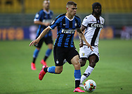 Parma Calcio's Ivorian striker Gervinho looks on as Inter's Italian midfielder Nicolo Barella bursts forwards with the ball during the Serie A match at Stadio Ennio Tardini, Parma. Picture date: 28th June 2020. Picture credit should read: Jonathan Moscrop/Sportimage