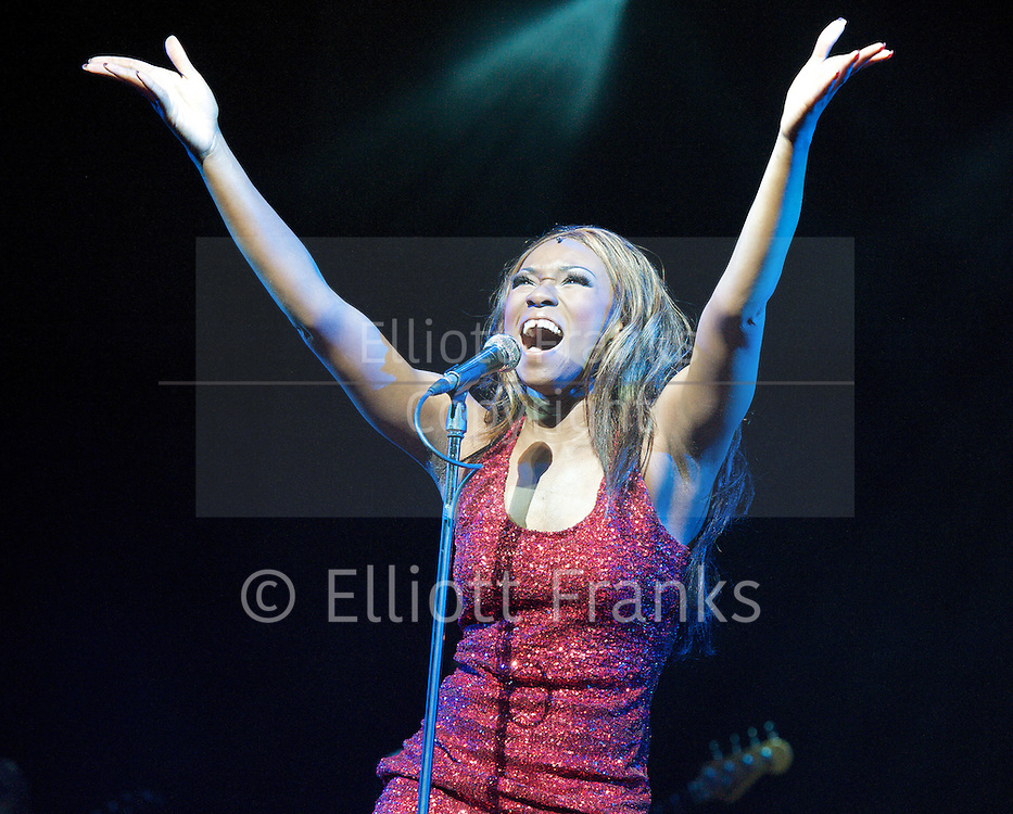 Soul Sister<br /> a new musical inspired by the life &amp; times of Ike &amp; Tina Turner <br /> at The Hackney Empire, London, Great Britain <br /> Press photocall 17th April 2012 <br /> <br /> Emi Wokama (as Tina Turner)<br /> Chris Tummings (as Ike Turner)<br /> <br /> <br /> Photograph by Elliott Franks