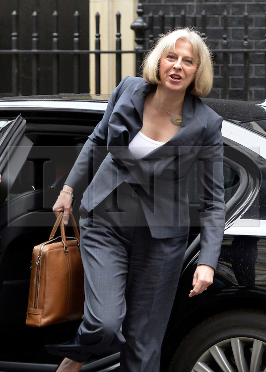 © Licensed to London News Pictures. 10/07/2012. Westminster, UK. Secretary of State for the Home Department THERESA MAY. Politicians in Downing Street today 10th July 2012. Photo credit : Stephen Simpson/LNP