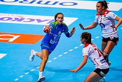 02-12-2019 JAP: Slovenia - Norway, Kumamoto<br /> Second day 24th IHF Womenís Handball World Championship, Slovenia lost the second match against Norway with 20 - 36. / Nina Zabjek #9 of Slovenia