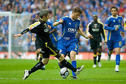 LONDON, ENGLAND - Saturday, May 17, 2008: Cardiff City's Kevin McNaughton and Portsmouth's Hermann Hriedarsson during the FA Cup Final at Wembley Stadium. (Photo by Chris Ratcliffe/Propaganda)