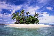 A small island of the Majuro Atoll, Marshall Islands