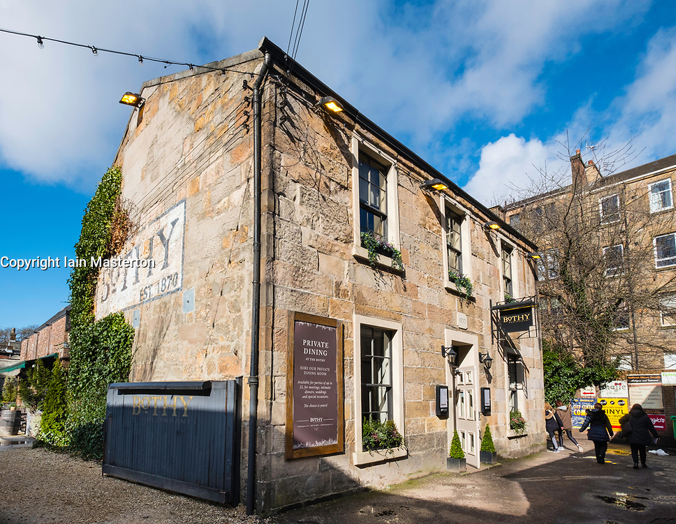 The Bothy restaurant on Ruthven Lane mews off Byres Road in Glasgow West End, Scotland, United Kingdom