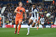 Ipswich Town defender (on loan from Aston Villa) James Bree (41) chases down West Bromwich Albion midfielder (on loan from Newcastle United) Jacob Murphy (70) during the EFL Sky Bet Championship match between West Bromwich Albion and Ipswich Town at The Hawthorns, West Bromwich, England on 9 March 2019.
