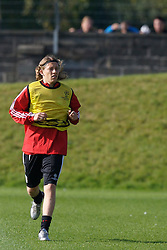 Liverpool, England - Tuesday, October 2, 2007: Liverpool's Lucas Levia training at Melwood ahead of the UEFA Champions League Group A match against Olympique de Marseille. (Photo by David Rawcliffe/Propaganda)