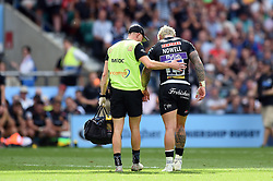 Jack Nowell of Exeter Chiefs is helped off the field after suffering an injury - Mandatory byline: Patrick Khachfe/JMP - 07966 386802 - 01/06/2019 - RUGBY UNION - Twickenham Stadium - London, England - Exeter Chiefs v Saracens - Gallagher Premiership Final