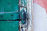 19 SEPTEMBER 2006 - NEW ORLEANS, LOUISIANA: A door hinge on an old building in New Orleans, LA. Photo by Jack Kurtz / ZUMA Press