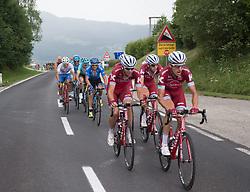 08.07.2017, Wels, AUT, Ö-Tour, Österreich Radrundfahrt 2017, 6. Etappe von St. Johann/Alpendorf nach Wels (203,9 km), im Bild das Feld im Anstieg zur Bergwertung Hochlecken, Oberösterreich // the peleton climbs the Hochlecken during the 6th stage from St. Johann/Alpendorf to Wels (203,9 km) of 2017 Tour of Austria. Wels, Austria on 2017/07/08. EXPA Pictures © 2017, PhotoCredit: EXPA/ Reinhard Eisenbauer