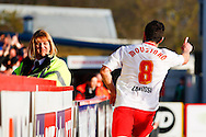 John Mousinho of Stevenage celebrates scoring his team's third goal to make it 3-0 during the Sky Bet League 1 match at the Lamex Stadium, Stevenage<br /> Picture by David Horn/Focus Images Ltd +44 7545 970036<br /> 08/03/2014