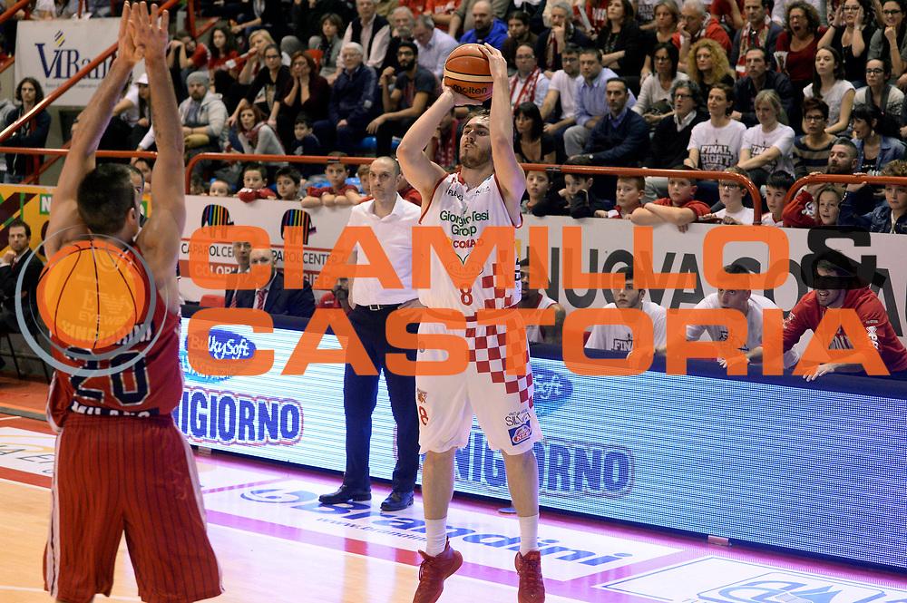 DESCRIZIONE : Pistoia Lega A 2015-2016 Giorgio Tesi Group Pistoia EA7 Emporio Armani Milano<br /> GIOCATORE : Martino Mastellari<br /> CATEGORIA : tiro three points<br /> SQUADRA : Giorgio Tesi Group Pistoia<br /> EVENTO : Campionato Lega A 2015-2016<br /> GARA : Giorgio Tesi Group Pistoia EA7 Emporio Armani Milano<br /> DATA : 14/02/2016<br /> SPORT : Pallacanestro<br /> AUTORE : Agenzia Ciamillo-Castoria/Max.Ceretti<br /> GALLERIA : Lega Basket A 2015-2016<br /> FOTONOTIZIA : Pistoia Lega A 2015-2016 Giorgio Tesi Group Pistoia EA7 Emporio Armani Milano<br /> PREDEFINITA :