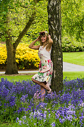 Pictured: Kelly Mackay prepares for ladies day<br /> <br /> The national gardening and outdoor living show, Gardening Scotland, takes place from June 3-5, and will this year include for the first time a Ladies' Day with fashion show<br /> <br /> <br /> <br /> Ger Harley | EEm 26 May 2016