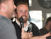 09/09/2015 Repro free: <br /> McGettigan's Galway Q&A session with Shane Lowry<br /> <br /> <br />  McGettigan's Galway were delighted to welcome WGC Bridgestone Champion and brand ambassador, Shane Lowry for his first visit to McGettigan's Galway for an exclusive Q&A session for invited guests.<br /> Shane discussed his rise from amateur status, all the challenges he's faced and overcome along the way and his most recent win at the WGC Bridgestone Championship. <br /> <br /> www.mcgettigans.com<br /> <br /> Follow McGettigan's Galway  on Twitter -@McGettigansGWY <br /> Photo:Andrew Downes, xposure.