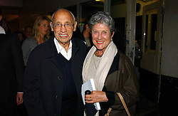 JOAN & SIDNEY BURNSTEIN of Brown's at Fashion Fringe - part of London fashion week held at the Selfridges Car Park, off Oxford Street, London on 22nd September 2004.<br />