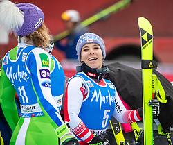 19.12.2018, Saslong, St. Christina, ITA, FIS Weltcup Ski Alpin, SuperG, Damen, Flower Zeremonie, im Bild Nicole Schmidhofer (AUT, 2. Platz) // second placed Nicole Schmidhofer of Austria during the Flowers ceremony for the ladie's Super-G of FIS Ski Alpine World Cup at the Saslong in St. Christina, Italy on 2018/12/19. EXPA Pictures © 2018, PhotoCredit: EXPA/ Johann Groder