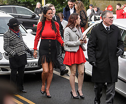 """© Licensed to London News Pictures. 13/02/2020. Sevenoaks, UK. Mourners arrive at St John the Baptist church in Sevenoaks, Kent for he funeral of traveller brothers Billy and Joe Smith. The twin brothers, who were made famous by the television programme """"My Big Fat Gypsy Wedding"""", were found hanged in woodland three days after Christmas. Photo credit: Ben Cawthra/LNP"""