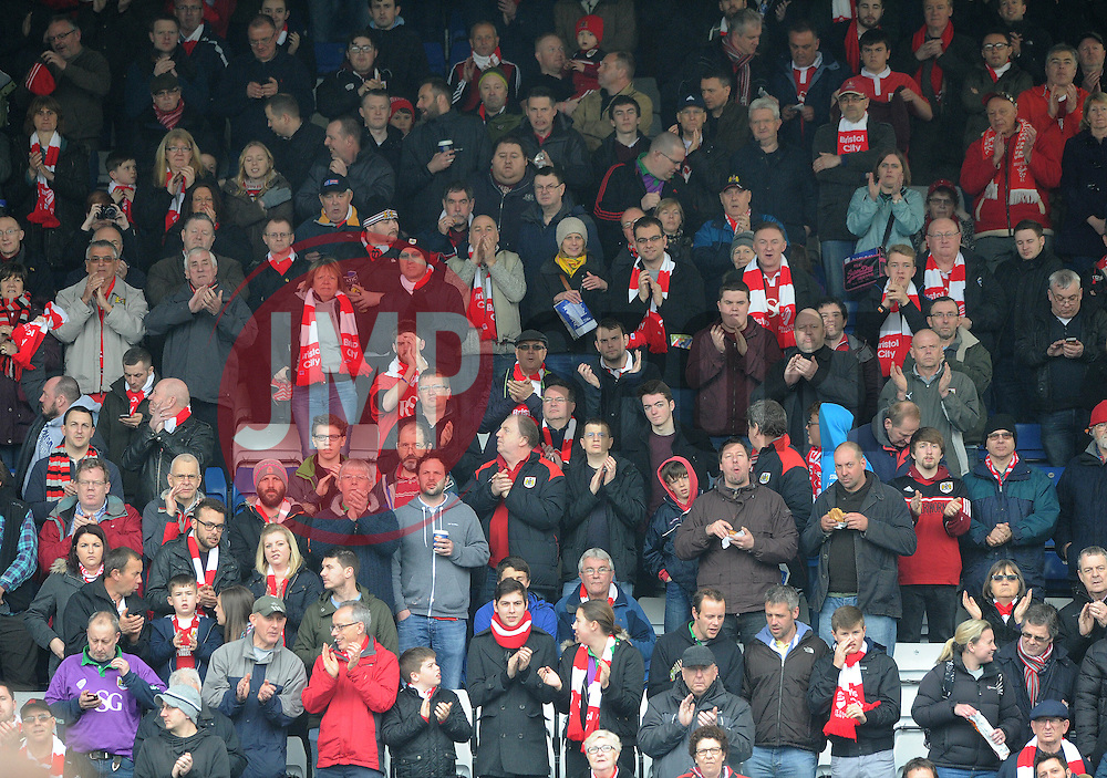 Bristol City fans - Photo mandatory by-line: Dougie Allward/JMP - Mobile: 07966 386802 - 03/04/2015 - SPORT - Football - Oldham - Boundary Park - Bristol City v Oldham Athletic - Sky Bet League One