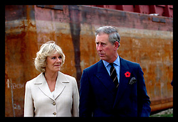 4th Novemebr, 2005. Charles and Camilla visit the lower 9th ward in New Orleans, devasted by hurricane Katrina when a barge broke through the levee flooding the area.