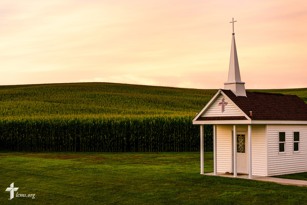 Photographs before sunrise of the Wayside Prayer Chapel on Sunday, July 17, 2015, at Mission Central in Mapleton, Iowa. LCMS Communications/Erik M. Lunsford