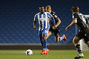 Brighton midfielder, Kazenga LuaLua during the EFL Cup match between Brighton and Hove Albion and Colchester United at the American Express Community Stadium, Brighton and Hove, England on 9 August 2016.