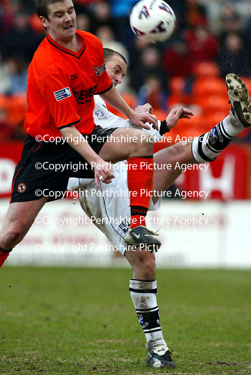 Dundee Utd v Ayr Utd   23.02.02 Tennents Scottish Cup<br />Paul Sheerin and Danny Griffin<br /><br />Pic by Graeme Hart<br />Copyright Perthshire Picture Agency<br />Tel: 01738 623350 / 07990 594431