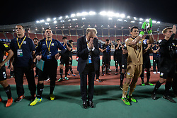 June 13, 2017 - Bangkok, Bangkok, Thailand - Thailand national team manager Milovan Rajevac makes a Thai traditional greeting during Thai football fan match between Thailand and the United Arab Emirates at the Rajamangala stadium in Bangkok, Thailand, 13 June 2017. (Credit Image: © Anusak Laowilas/NurPhoto via ZUMA Press)