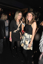 Left to right, sisters VIOLET VON WESTENHOLZ and VICTORIA VON WESTENHOLZ at the Tatler Magazine Little Black Book party at Tramp, 40 Jermyn Street, London SW1 on 5th November 2008.
