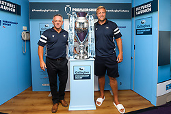 Bristol Bears Chief Operating Officer Mark Tainton and Jordan Crane of Bristol Bears at the launch of the 2018/19 Gallagher Premiership Rugby Season Fixtures - Mandatory by-line: Robbie Stephenson/JMP - 06/07/2018 - RUGBY - BT Tower - London, England - Gallagher Premiership Rugby Fixture Launch