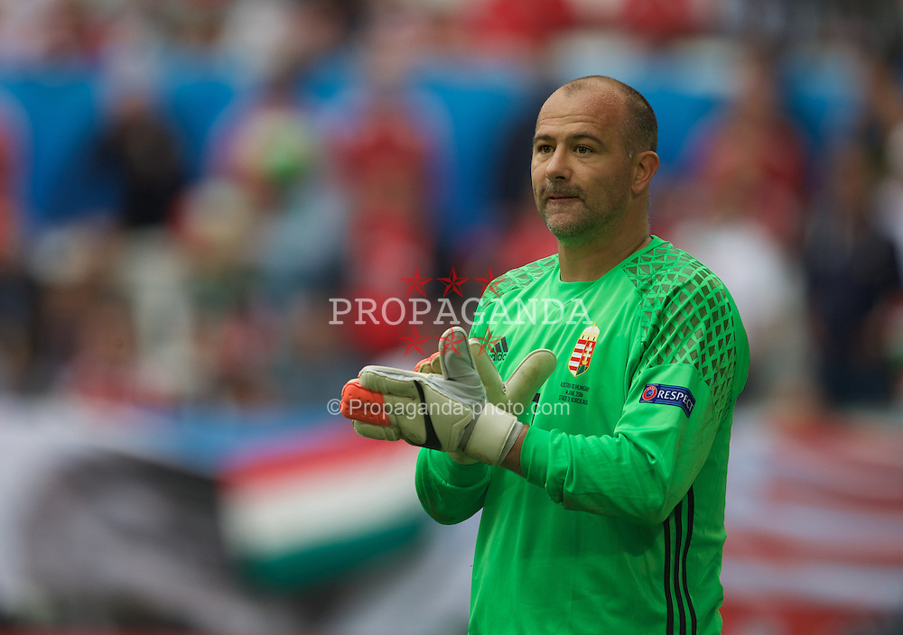 BORDEAUX, FRANCE - Monday, June 14, 2016: Hungary's goalkeeper Gabor Kiraly in action against Austria during the UEFA Euro 2016 Championship match at Stade de Bordeaux. (Pic by Paul Greenwood/Propaganda)