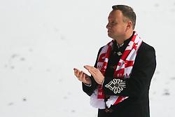 November 19, 2017 - Wisla, Poland - Polish President Andrzej Duda  is seen during the individual competition during the FIS Ski Jumping World Cup on November 19, 2017 in Wisla, Poland. (Credit Image: © Foto Olimpik/NurPhoto via ZUMA Press)