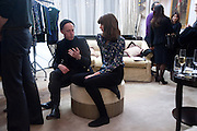 JAMES BROWN; LADY SOPHIA HAMILTON, Hamlton-Paris host a trunk show for Autumn/Wnter 2010. The Connaught. Carlos Place. Mayfair. London W1. 23 March 2010.