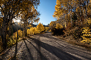The road to the Uinta Mountains on an Autumn afternoon.