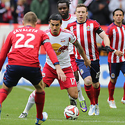 Tim Cahill, New York Red Bulls, in action during the New York Red Bulls V Chivas USA, Major League Soccer regular season match at Red Bull Arena, Harrison, New Jersey. USA. 30th March 2014. Photo Tim Clayton