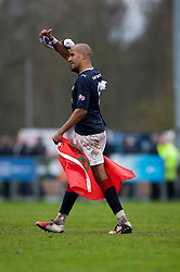 Falkirk's Farid El Alagui with fans at the end..Annan Athletic 0 v 3 Falkirk. Semi Final of the Ramsdens Cup, 9/10/2011..Pic © Michael Schofield.