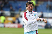 Joey Barton of Burnley warming up before the Sky Bet Championship match between Burnley and Blackburn Rovers at Turf Moor, Burnley, England on 5 March 2016. Photo by Simon Brady.
