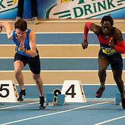 NLD/Apeldoorn/20180217 - NK Indoor Athletiek 2018, 60 meter heren, Olav Donker en Mattheus Campbell