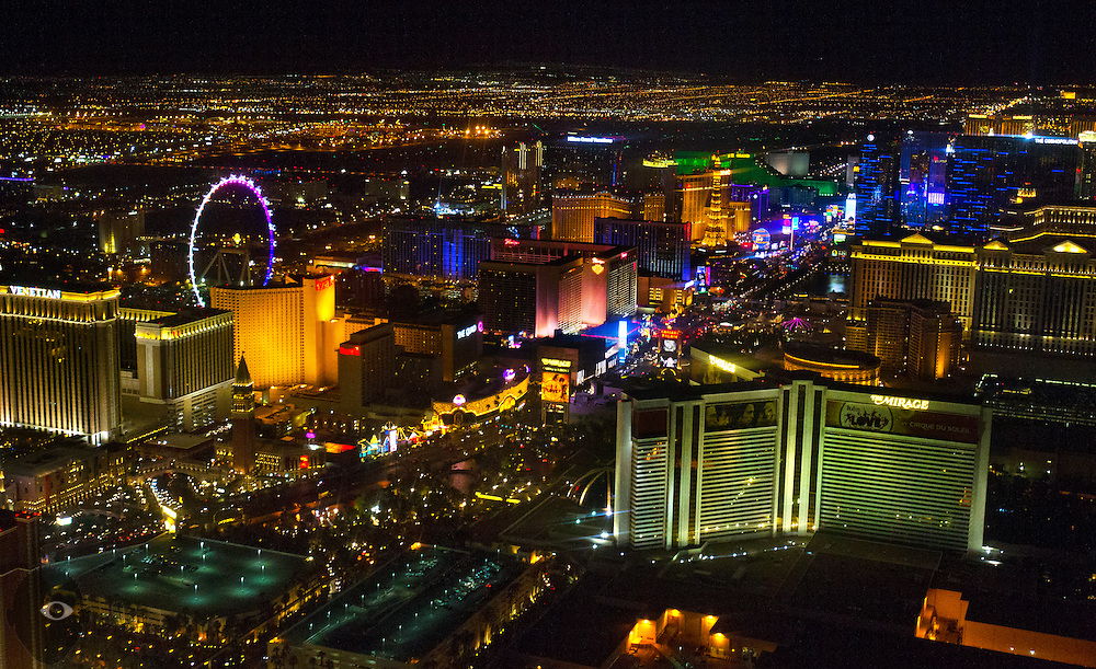 "View of the Las Vegas ""Strip"" taken from a Maverick Helicopter on Friday, June 20, 2014.  L.E. Baskow"