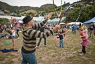 Hula hoops at Lyttelton Summer Festival, 2011