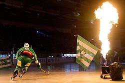 Bostjan Groznik (HDD Tilia Olimpija, #6) during ice-hockey match between HDD Tilia Olimpija and EHC Liwest Black Wings Linz at second match in Semifinal  of EBEL league, on March 8, 2012 at Hala Tivoli, Ljubljana, Slovenia. (Photo By Matic Klansek Velej / Sportida)