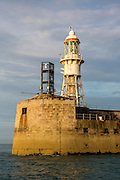 Dover Admiralty Pier Lighthouse on a Breakwater which marks the entrance to the Port of Dover, Dover, Kent, England, United Kingdom.(photo by Andrew Aitchison / In pictures via Getty Images)