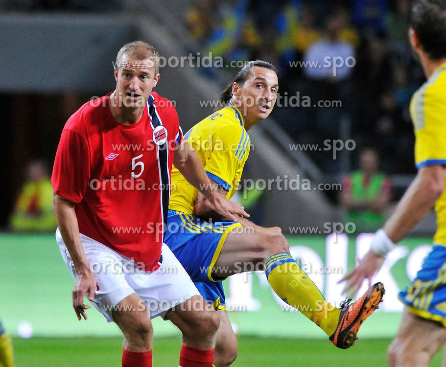 14.08.2013, Friends Arena, Solna, SWE, Testspiel, Schweden vs Norwegen, im Bild Sverige 10 Zlatan Ibrahimovic // during the international friendly match between Sweden and Norway at the Friends Arena in Solna, Sweden on 2013/08/14. EXPA Pictures &copy; 2013, PhotoCredit: EXPA/ PicAgency Skycam/ Simone Syversson<br /> <br /> ***** ATTENTION - OUT OF SWE *****