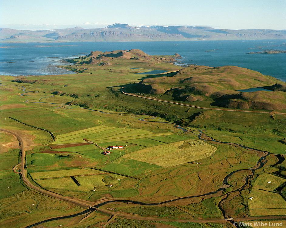 Klukkufell,  séð til suðurs, Reykhólahreppur /.Klukkufell viewing south, Reykholahreppur