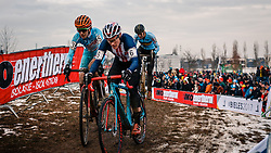 Katherine Compton of USA during the Women Elite race, UCI Cyclo-cross World Championship at Bieles, Luxembourg, 28 January 2017. Photo by Pim Nijland / PelotonPhotos.com | All photos usage must carry mandatory copyright credit (Peloton Photos | Pim Nijland)