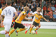 Cambridge Utd midfielder Piero Mingoia (7) on the attack during the EFL Sky Bet League 2 match between Cambridge United and Luton Town at the R Costings Abbey Stadium, Cambridge, England on 27 August 2016. Photo by Nigel Cole.