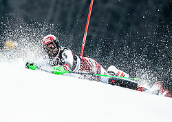Fall of HIRSCHBUEHL Christian of Austria during the Audi FIS Alpine Ski World Cup Men's Slalom 58th Vitranc Cup 2019 on March 10, 2019 in Podkoren, Kranjska Gora, Slovenia. Photo by Matic Ritonja / Sportida