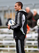 The New Zealand All blacks training session at Yarrow Stadium, New Plymouth, Auckland. Monday 7th June 2010. Aaron Cruden helped with the training of Taranaki U18 and U20 players. Photo: Mike Scott/PHOTOSPORT