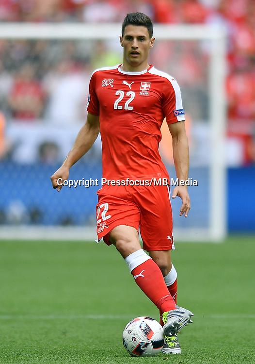 2016.06.25 Saint-Etienne<br /> Pilka nozna Euro 2016<br /> mecz 1/8 finalu Szwajcaria - Polska<br /> N/z Fabian Schar<br /> Foto Lukasz Laskowski / PressFocus<br /> <br /> 2016.06.25<br /> Football UEFA Euro 2016 <br /> Round of 16 game between Switzerland and Poland<br /> Fabian Schar<br /> Credit: Lukasz Laskowski / PressFocus