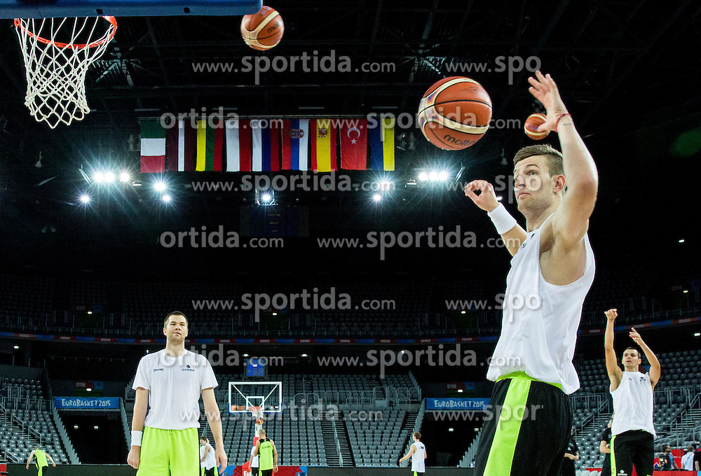 Alen Omic during practice session of Slovenia National Basketball Team 1 day prior to the FIBA Europe Eurobasket 2015, on September 4, 2015, in Arena Zagreb, Croatia. Photo by Vid Ponikvar / Sportida
